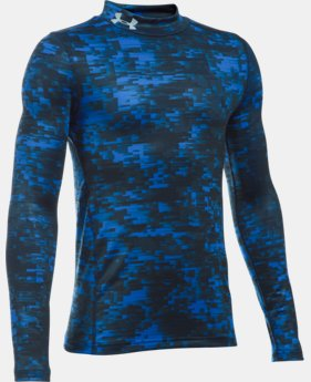 Boys' UA ColdGear® Armour Up Printed Mock LIMITED TIME OFFER + FREE U.S. SHIPPING 1 Color $33.74