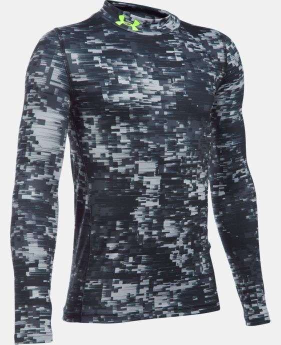 Boys' UA ColdGear® Armour Up Printed Mock  1 Color $37.49