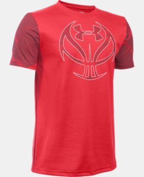 Boys' UA Basketball Logo Printed T-Shirt LIMITED TIME: FREE U.S. SHIPPING 1 Color $18.99