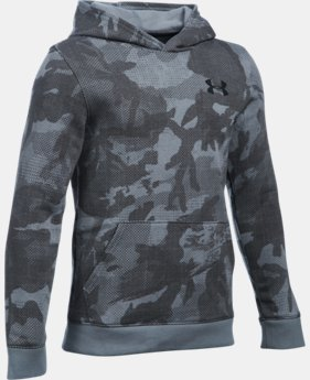 Boys' UA Sportstyle Fleece Printed Hoodie LIMITED TIME: FREE SHIPPING 5 Colors $49.99