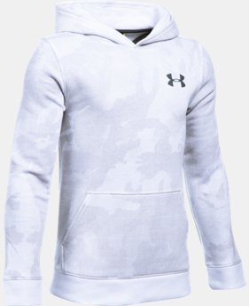 New Arrival  Boys' UA Sportstyle Fleece Printed Hoodie  5 Colors $49.99