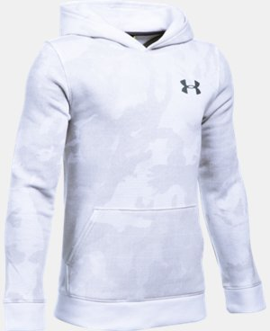 New Arrival  Boys' UA Sportstyle Fleece Printed Hoodie  1 Color $49.99
