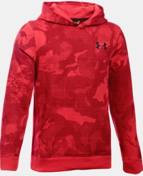 Boys' UA Sportstyle Fleece Printed Hoodie LIMITED TIME: FREE SHIPPING 1 Color $49.99