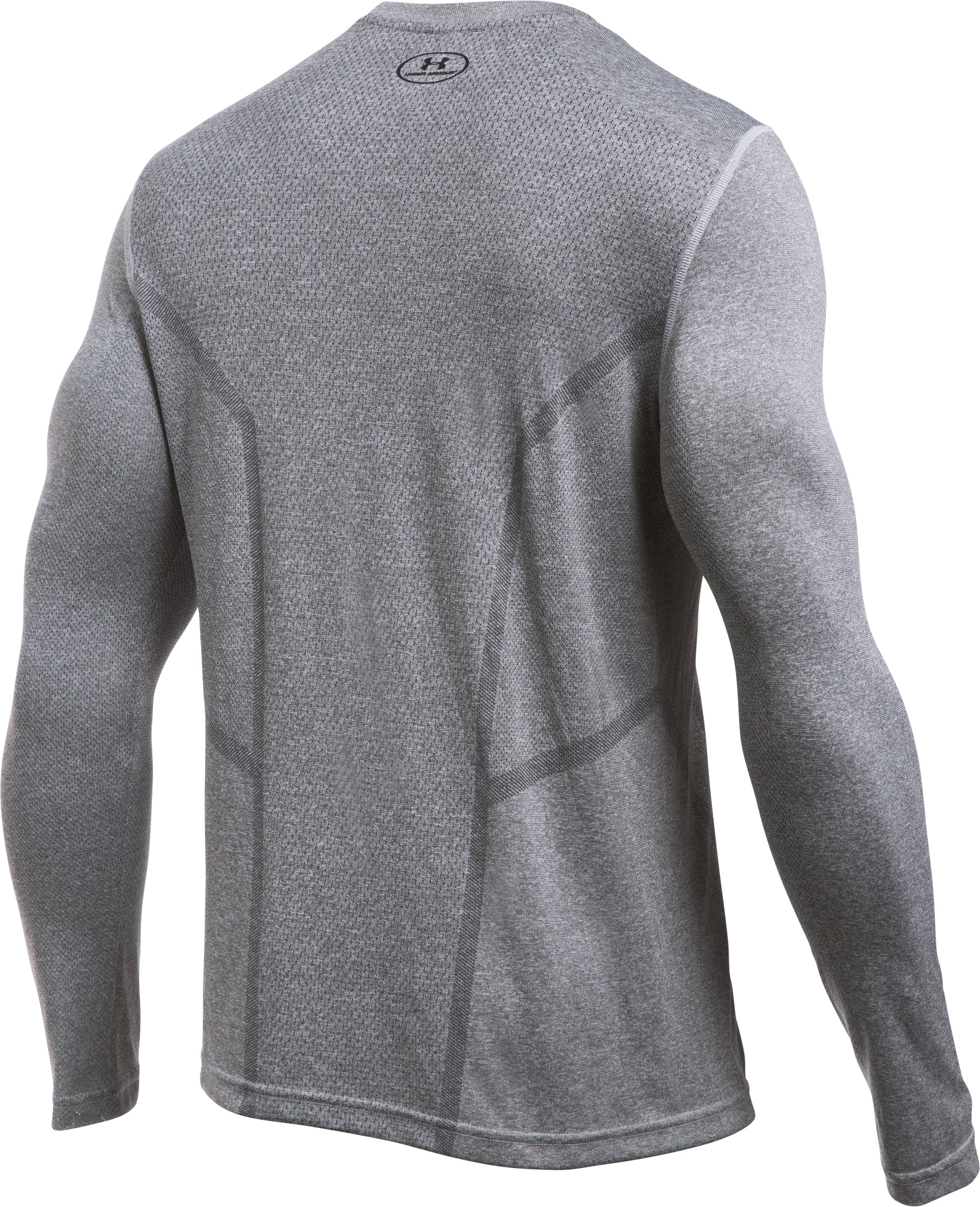 Men's UA Elevated Training Long Sleeve, AIR FORCE GRAY HEATHER