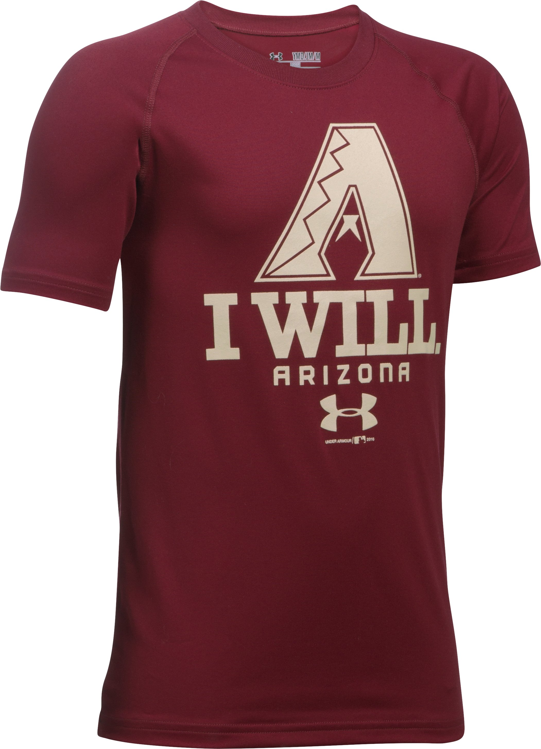 Boys' Arizona Diamondbacks I Will UA Tech™ T-Shirt, Cardinal