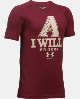 New Arrival Boys' Arizona Diamondbacks I Will UA Tech™ T-Shirt  1 Color $24.99