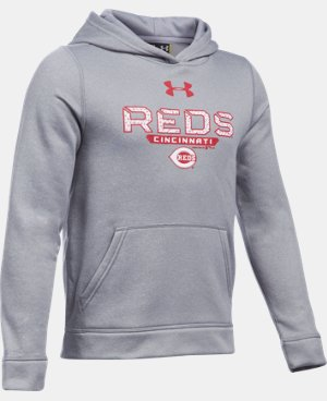 Boys' Cincinnati Reds UA Storm Armour® Fleece Hoodie LIMITED TIME: FREE U.S. SHIPPING 1 Color $41.99
