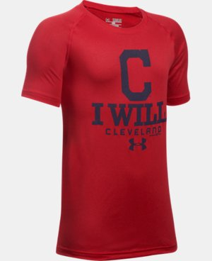 New Arrival Boys' Cleveland Indians I Will UA Tech™ T-Shirt LIMITED TIME: FREE U.S. SHIPPING 1 Color $24.99