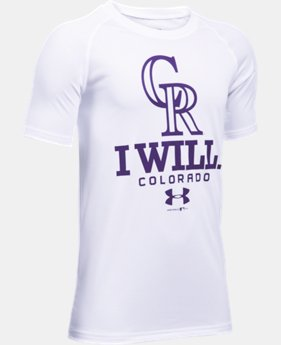 New Arrival Boys' Colorado Rockies I Will UA Tech™ T-Shirt  1 Color $24.99