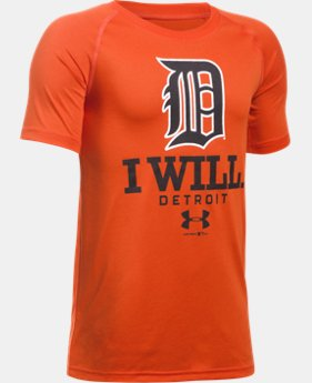 New Arrival Boys' Detroit Tigers I Will UA Tech™ T-Shirt LIMITED TIME: FREE SHIPPING 1 Color $24.99