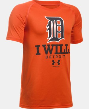 New Arrival Boys' Detroit Tigers I Will UA Tech™ T-Shirt  1 Color $24.99