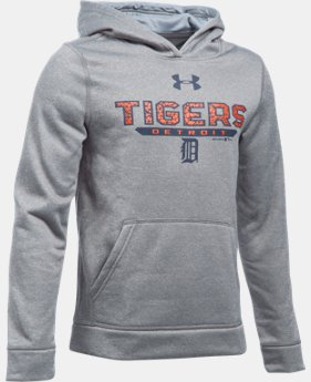 Boys' Detroit Tigers UA Storm Armour® Fleece Hoodie