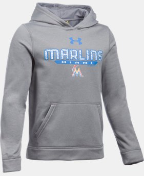 Boys' Miami Marlins UA Storm Armour® Fleece Hoodie  1 Color $41.99