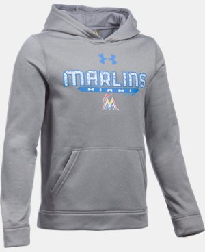Boys' Miami Marlins UA Storm Armour® Fleece Hoodie LIMITED TIME: FREE U.S. SHIPPING 1 Color $41.99