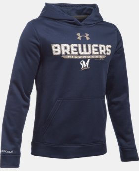 Boys' Milwaukee Brewers UA Storm Armour® Fleece Hoodie LIMITED TIME: FREE U.S. SHIPPING 1 Color $41.99