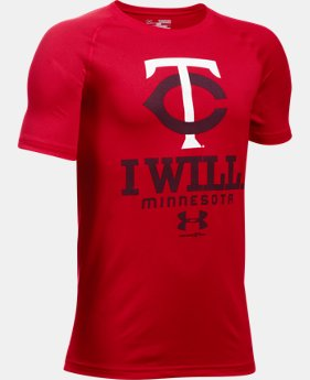 Boys' Minnesota Twins I Will UA Tech™ T-Shirt LIMITED TIME: UP TO 30% OFF 1 Color $18.99
