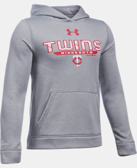 Boys' Minnesota Twins UA Storm Armour® Fleece Hoodie