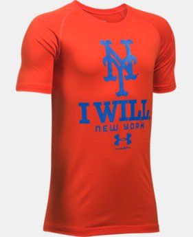New Arrival Boys' New York Mets I Will UA Tech™ T-Shirt LIMITED TIME: FREE SHIPPING  $24.99