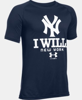 Boys' New York Yankees I Will UA Tech™ T-Shirt LIMITED TIME: FREE U.S. SHIPPING  $18.99