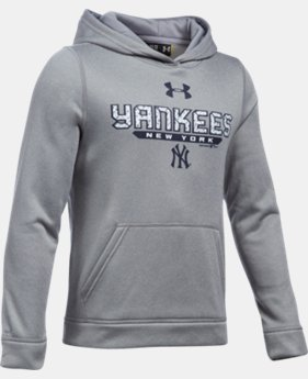 Boys' New York Yankees UA Storm Armour® Fleece Hoodie   $48.99