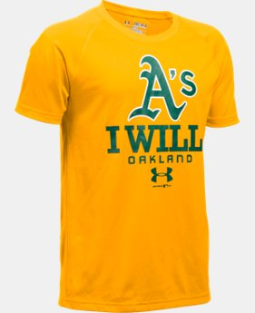 New Arrival Boys' Oakland Athletics I Will UA Tech™ T-Shirt  1 Color $24.99