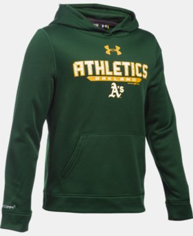Boys' Oakland Athletics UA Storm Armour® Fleece Hoodie  1 Color $41.99