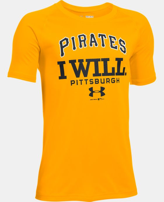 New Arrival Boys' Pittsburgh Pirates I Will UA Tech™ T-Shirt  1 Color $24.99