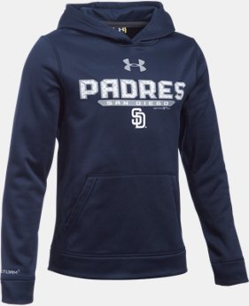 Boys' San Diego Padres UA Storm Armour® Fleece Hoodie  1 Color $31.49