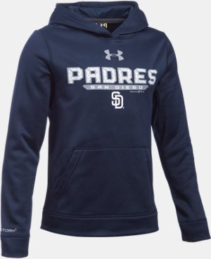 Boys' San Diego Padres UA Storm Armour® Fleece Hoodie LIMITED TIME: FREE U.S. SHIPPING 1 Color $41.99