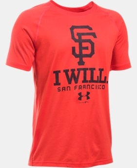 New Arrival Boys' San Francisco Giants I Will UA Tech™ T-Shirt LIMITED TIME: FREE SHIPPING 1 Color $24.99