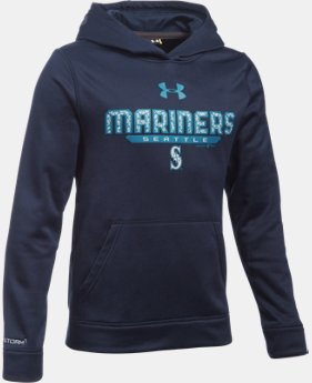 Boys' Seattle Mariners UA Storm Armour® Fleece Hoodie  1 Color $48.99