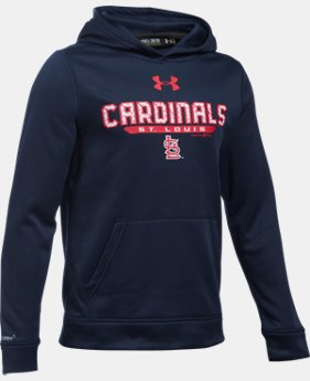 Boys' St. Louis Cardinals UA Storm Armour® Fleece Hoodie LIMITED TIME: FREE SHIPPING 1 Color $64.99
