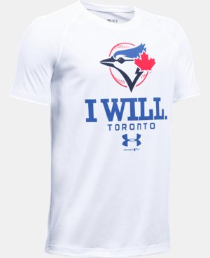 New Arrival Boys' Toronto Blue Jays I Will UA Tech™ T-Shirt  1 Color $24.99