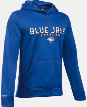 Boys' Toronto Blue Jays UA Storm Armour® Fleece Hoodie LIMITED TIME: FREE SHIPPING 1 Color $64.99
