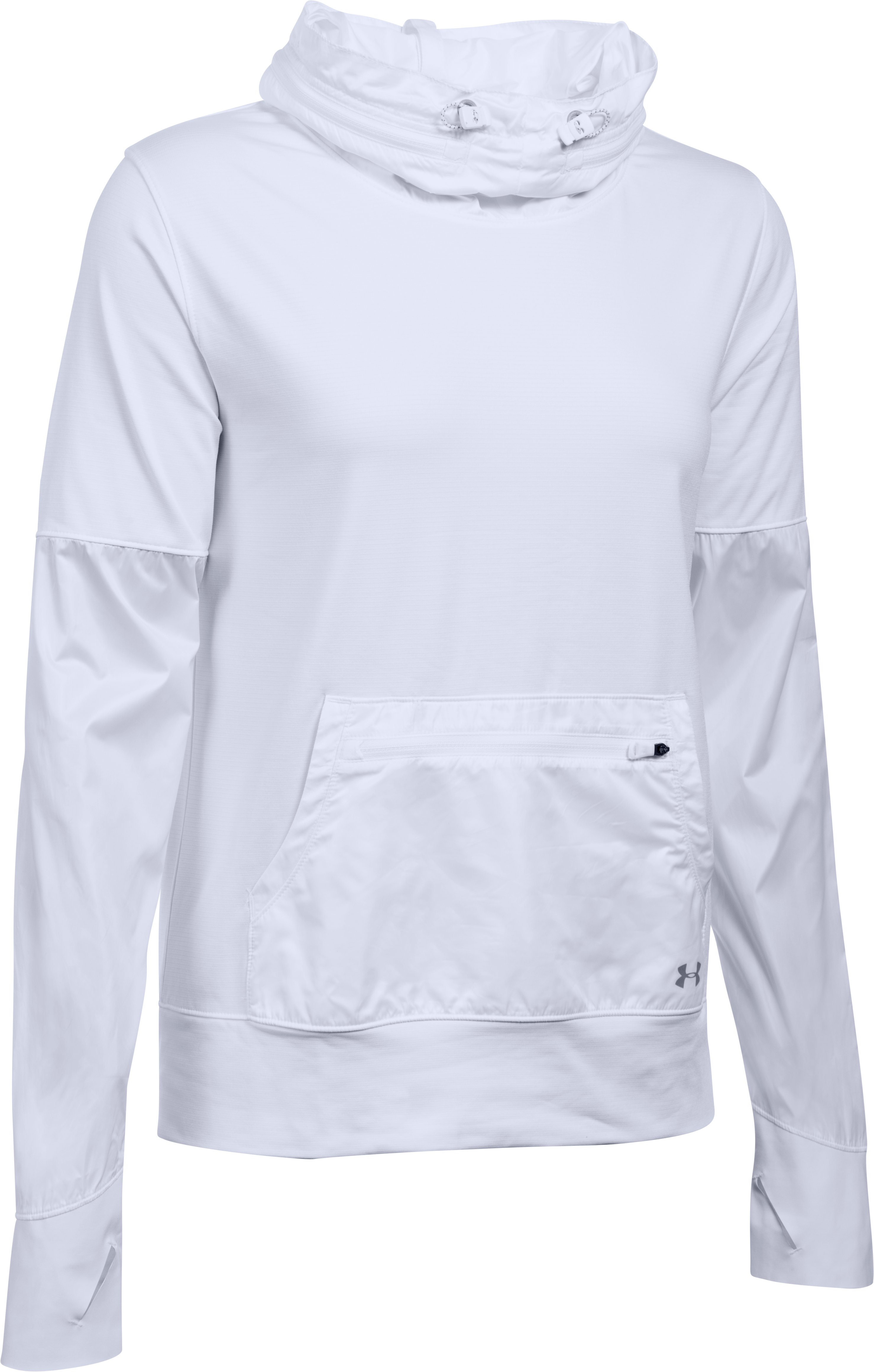Women's UA Storm Hybrid Pullover, White, undefined