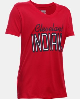 Girls' Cleveland Indians UA Tech™ T-Shirt  1 Color $18.99