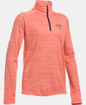 Girls' Detroit Tigers UA Tech™ ½ Zip  1 Color $28.49