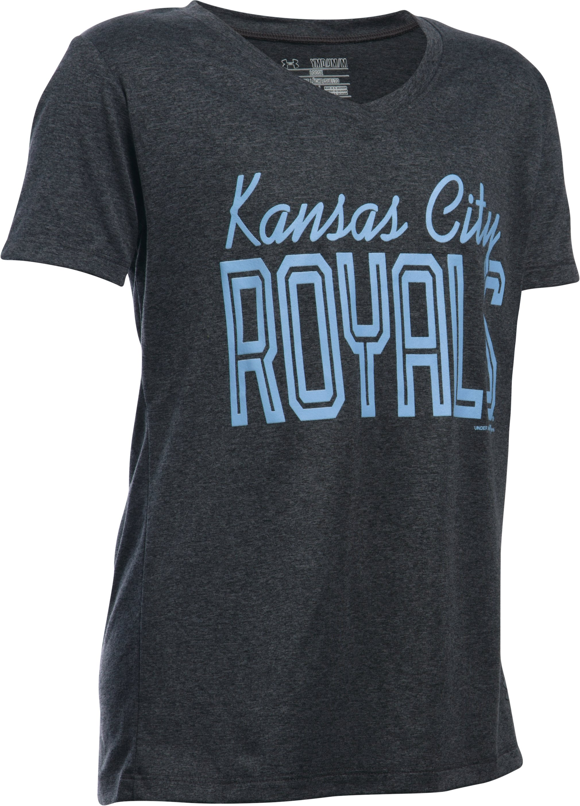 Girls' Kansas City Royals UA Tech™ T-Shirt, Carbon Heather,