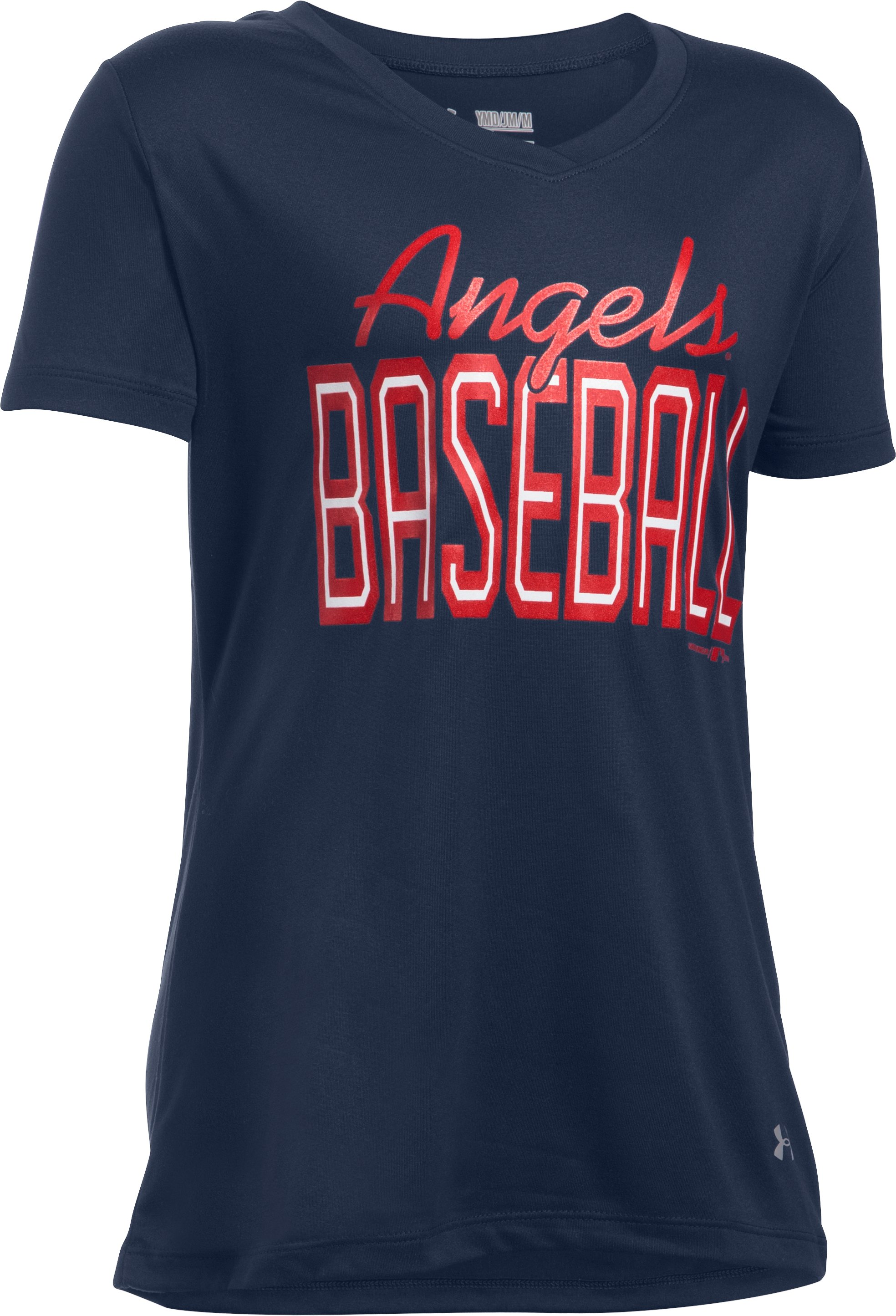 Girls' Los Angeles Angels UA Tech™ T-Shirt, Midnight Navy, zoomed image