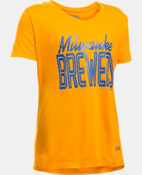 Girls' Milwaukee Brewers UA Tech™ T-Shirt  1 Color $14.24