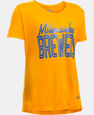 Girls' Milwaukee Brewers UA Tech™ T-Shirt LIMITED TIME: FREE U.S. SHIPPING  $18.99