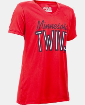 Girls' Minnesota Twins UA Tech™ T-Shirt LIMITED TIME: UP TO 30% OFF 1 Color $18.99