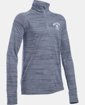 Girls' New York Yankees UA Tech™ ½ Zip  1 Color $37.99
