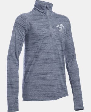 Girls' New York Yankees UA Tech™ 1/2 Zip LIMITED TIME: FREE U.S. SHIPPING 1 Color $37.99