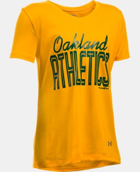 Girls' Oakland Athletics UA Tech™ T-Shirt  1 Color $18.99