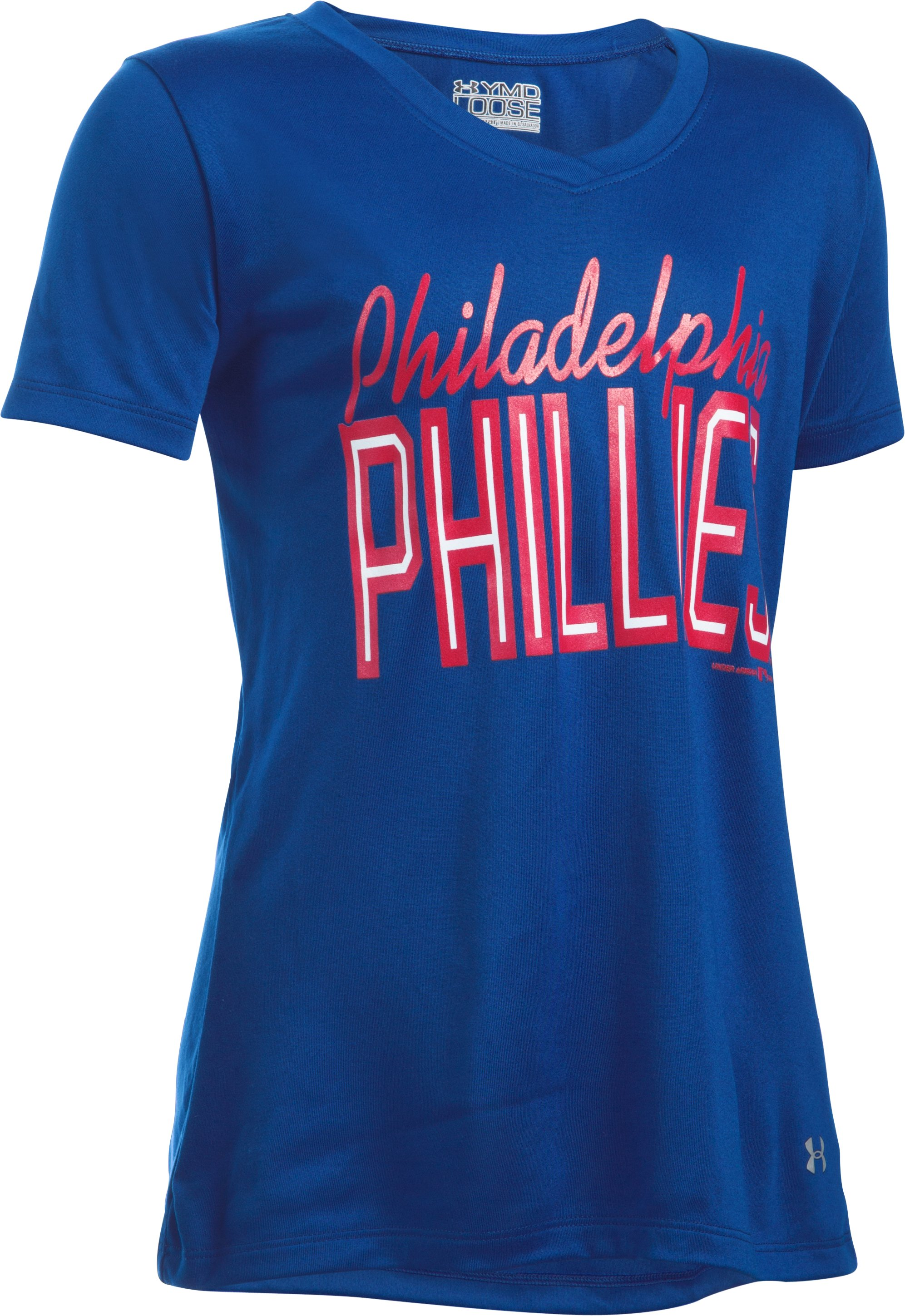 Girls' Philadelphia Phillies UA Tech™ T-Shirt, Royal,