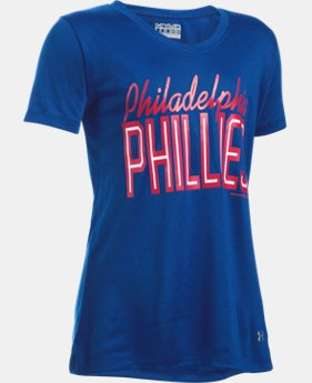 Girls' Philadelphia Phillies UA Tech™ T-Shirt LIMITED TIME: FREE U.S. SHIPPING  $18.99