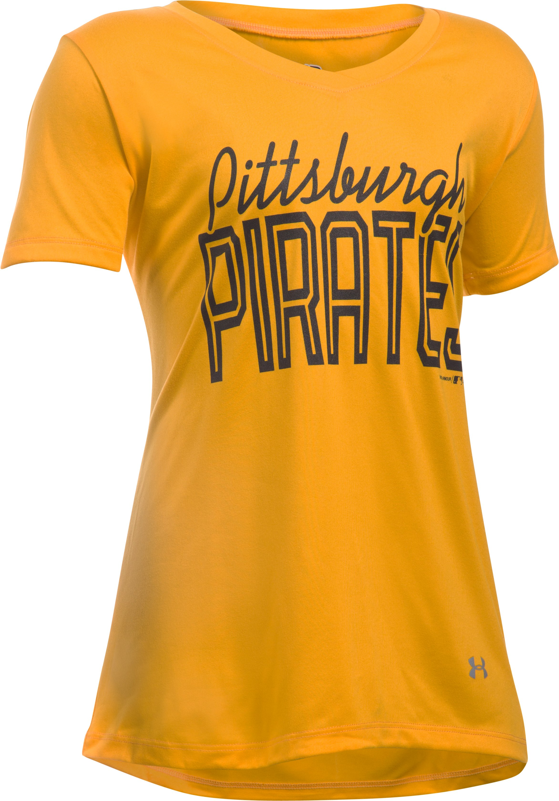 Girls' Pittsburgh Pirates UA Tech™ T-Shirt, Steeltown Gold, undefined
