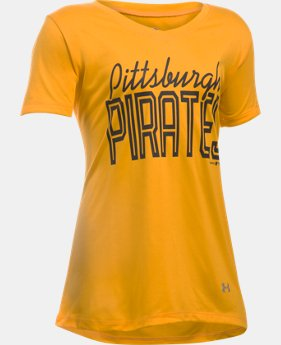Girls' Pittsburgh Pirates UA Tech™ T-Shirt   $14.24