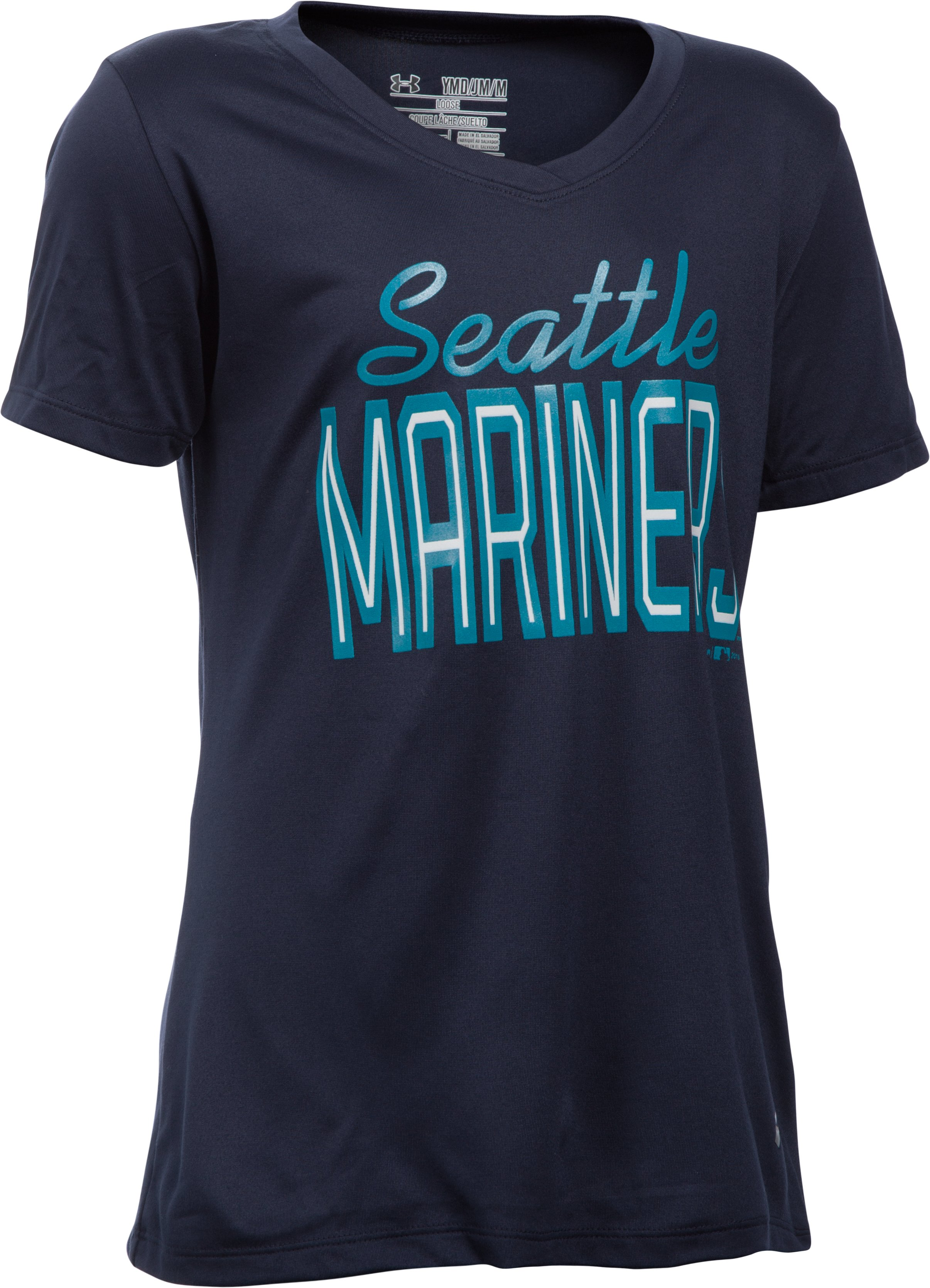 Girls' Seattle Mariners UA Tech™ T-Shirt, Midnight Navy